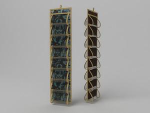 Кофр для колготок и мелочей, двусторонний, 16 карманов, 20х80см 1310