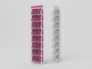 Кофр для колготок и мелочей, двусторонний, 16 карманов, 20х80см 10010