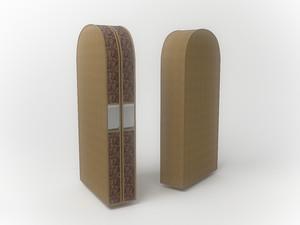 Чехол двойной для одежды малый, 60х100х20см 1203