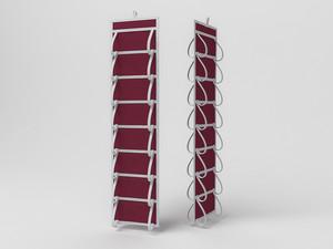 Кофр для колготок и мелочей, двусторонний, 16 карманов, 20х80см 1610