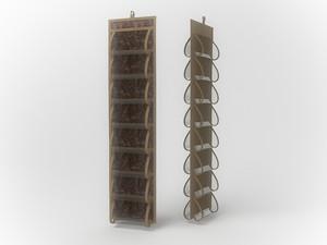 Кофр для колготок и мелочей, двусторонний, 16 карманов, 20х80см 1210