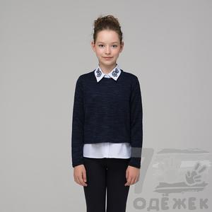 310 Комплект для девочки - блузка, джемпер