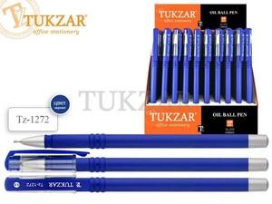 Ручка шариковая масляная 0.3мм синяя  игольч. наконечник TZ1272 Tukzar {Китай}