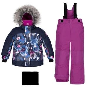 C 10 С803Костюм детский для девочки (куртка+брюки на лямках+манишка) 528