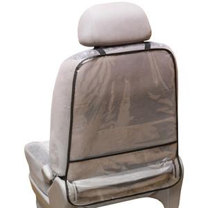 Защита спинки сиденья-органайзер SKYWAY ПВХ с карманом 60*50см прозрачная пленка 200 мкм
