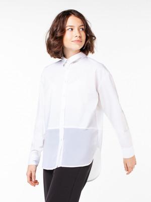 100545_OLG Удлиненная блузка с длинным рукавом для девочки