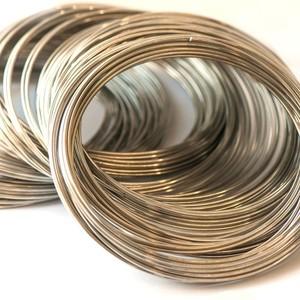 Проволока стальная для ожерелья, с памятью, цвет платина, 11.5х1.8 мм (1 виток)