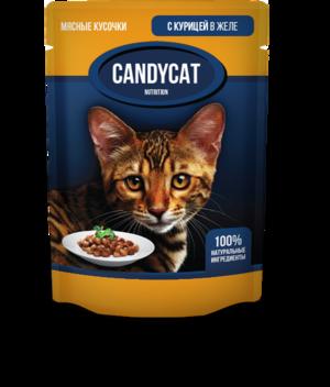 CANDYCAT д/кошек пауч (желе) 85 грамм