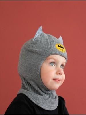 Шлем зимний вязаный (Пепельный) Бэтмен