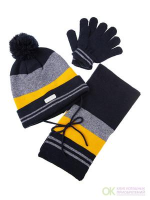 Комплект: шапка, шарф для мальчика
