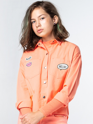 100091_OLG Рубашка для девочки