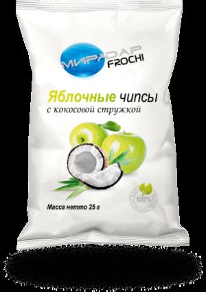 Яблочные чипсы с кокосовой стружкой (25 г)