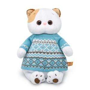 OLK24-033 Голубой вязаный свитер (комплект одежды для Ли-Ли 24см)