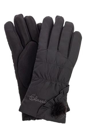 Перчатки женские зимние с мехом, цвет черный