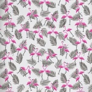 Ткань на отрез бязь 120 гр/м2 детская 150 см 7277/1 Фламинго на белом