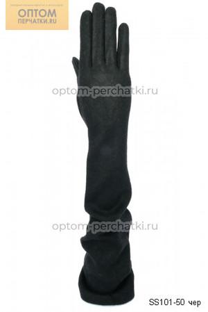 Перчатки женские кашемировые длинные (арт. SS101-50 чер)