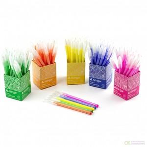 Ручка шариковая, Alingar, синяя, 0,7 мм.,чернила на масляной основе, игольчатый наконечник, цветной корпус 5 цветов/5 стаканчиков в карт. блистере (арт. AL6094 Код)