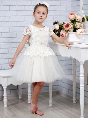 Платье Эмилия (лен нарядный с фатином) Л18-15
