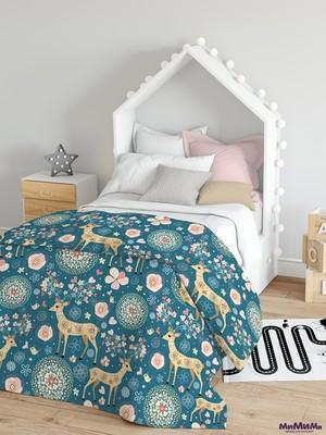 Плед для кроватки «Сновидения Бэмби» 110×140 см арт. ПЛ154-4