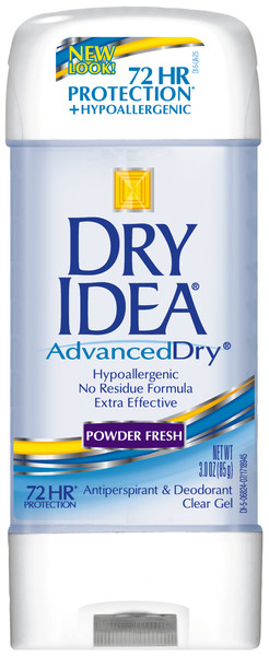 Dry Idea Antiperspirant Deodorant Gel, Powder Fresh, 3 Ounce