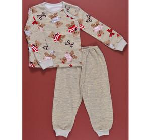 Пижама 610/1 (березка коричневая, мишки, б/рис.)