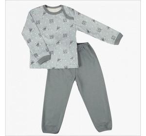Пижама 610/7 (кораблики на сером) начес/