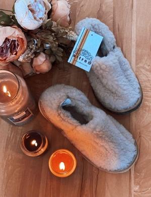 Тапочки-туфли ALTRO арт.2111333-03 шерсть альпака беж, подошва EVA 7,5 мм