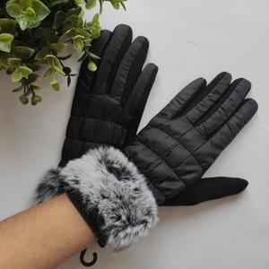 Перчатки женские комбинированные для сенсорных экранов (арт. BWCo-581-ts c04 чер)
