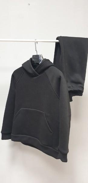 050 Детский костюм утепленный, черный