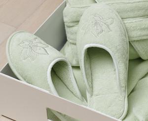 Тапочки Soft cotton LILIUM светло-зеленый