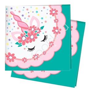 Салфетки Единорог Pink&Tiffany 24х24см 12шт