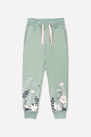 К 4911/нефритовый к1256 брюки для девочки