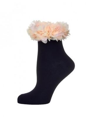 LARMINI Носки LR-S-FLO-K, цвет темно-синий/розовый