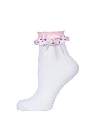LARMINI Носки LR-S-BS-PJ-LGL, цвет белый/розовый