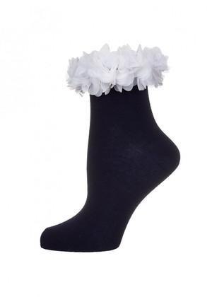 LARMINI Носки LR-S-FLO-K, цвет темно-синий/белый