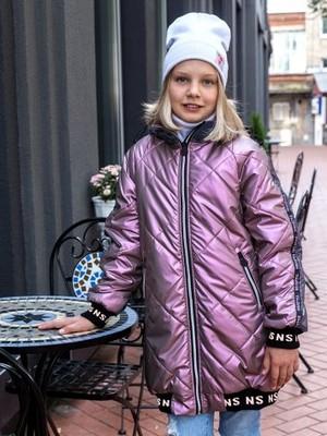 Куртка 4м3021 лиловый/фиолетовый перламутр