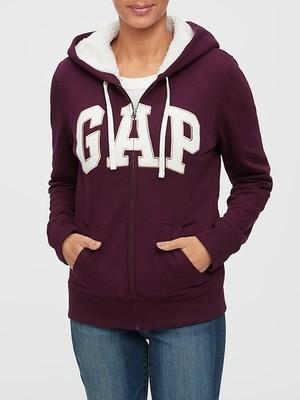 Sherpa-Lined Gap Logo Zip Hoodie SKU