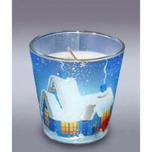 свеча в стакане зим домик м