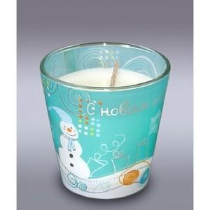 свеча в стакане снеговик м