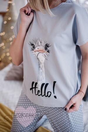 Женская пижама ЖП 010/1 (серый с горохом (страус))