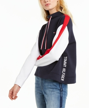 Tommy Hilfiger Colorblocked Mock Neck Sweatshirt