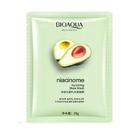 BIOAQUA, Увлажняющая омолаживающая Тканевая экспресс-маска для лица с экстрактом авокадо Niacinome Hydrating Shea Mask, 25г