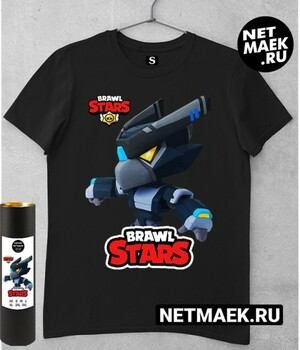 Футболка Темный Ворон Меха Brawl Stars (Браво Старс) DARK