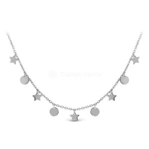 Колье из серебра родированное 440-10-291р