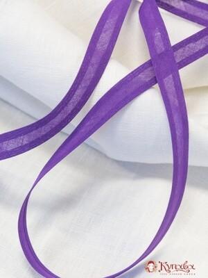 Косая бейка, цв. сиренево-фиолетовый 15 мм, хлопок-100%