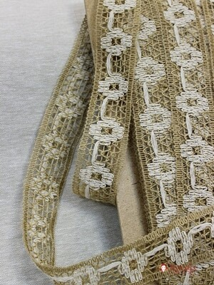 Тесьма плетеная, 45мм, джут-50%, вискоза-40%, п/э-10%