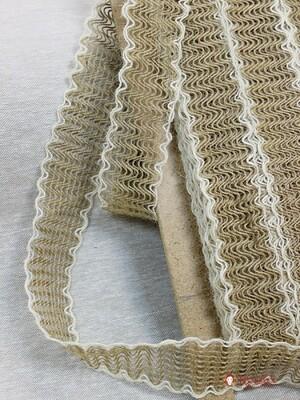 Тесьма плетеная, 50мм, джут-60%, п/э-30%, шерсть-10%