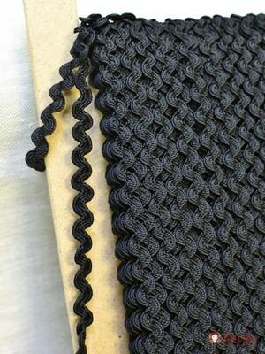 Вьюнчик цв.черный, 9мм, п/э-100%