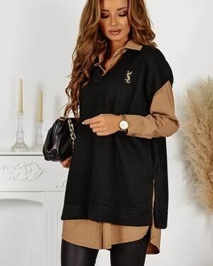 Рубашка женская с жилеткой, Артикул: 57037