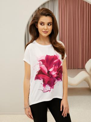 Туника (платье) жен BeGood SS21WJ137 Floral Shadow белый